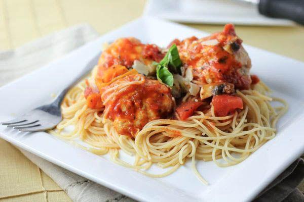 Spaghetti and Italian Turkey Meatballs | Meal ideas | Pinterest