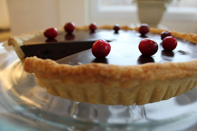 Chocolate Tart with Candied Cranberries | Pies, Tarts & Cobblers | Pi ...