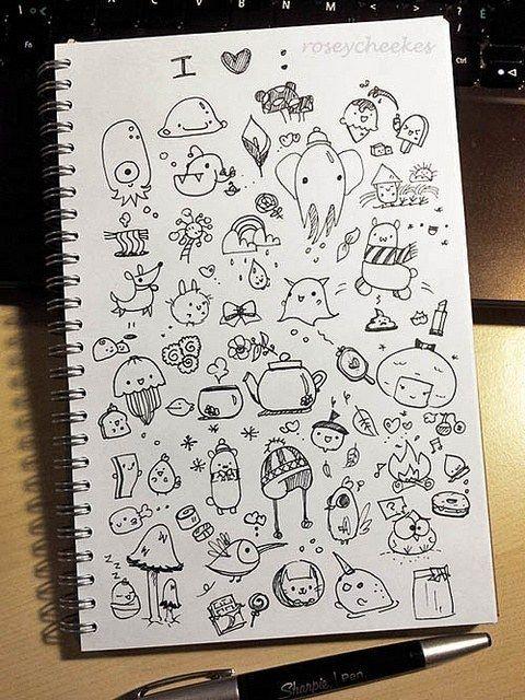 Рисунок в скетчбуке ручкой 158