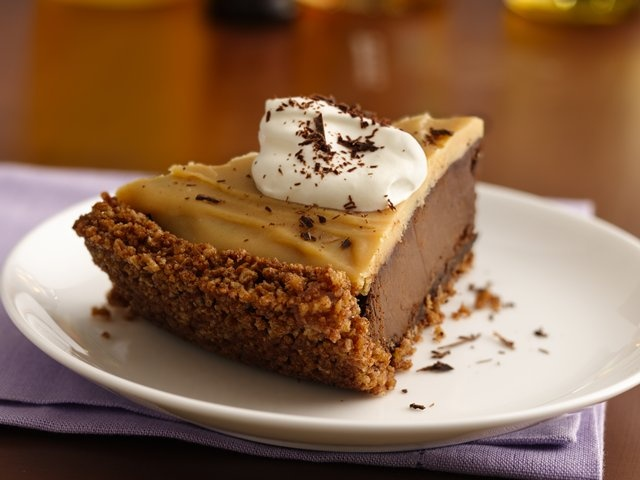 Double Chocolate-Peanut Butter Pudding Pie | Gluten Freely GREAT crust ...