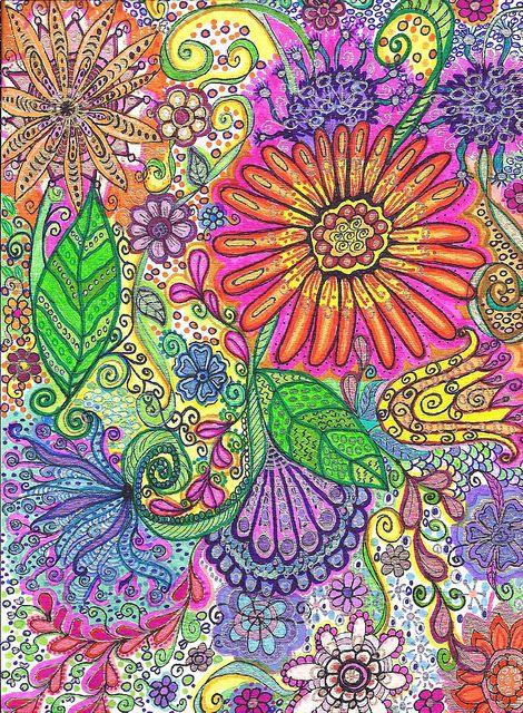 Flower doodle_2 by n_lucas, via Flickr
