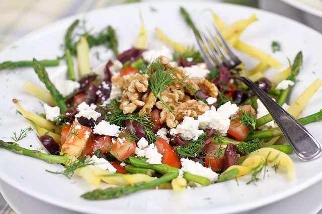 Wax Beans and Asparagus Salad | Recipe