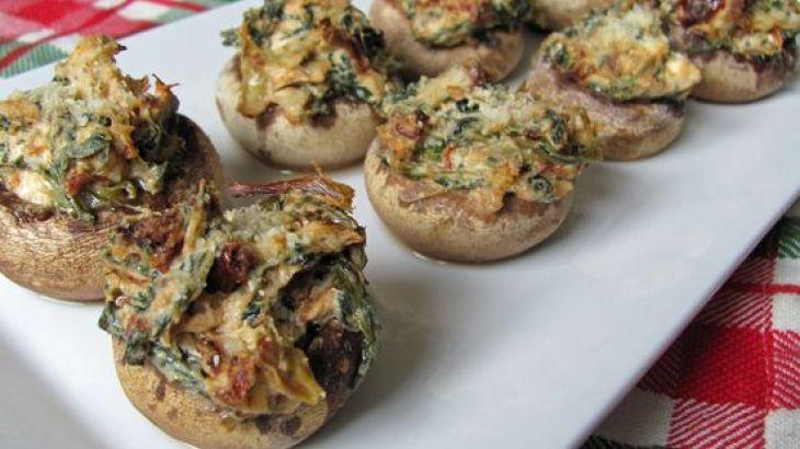 Artichoke & Sun-Dried Tomato Stuffed Mushrooms Recipe
