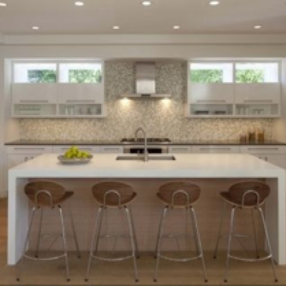 Waterfall Countertop with Free Kitchen Clip Art also Kitchen Cabinets