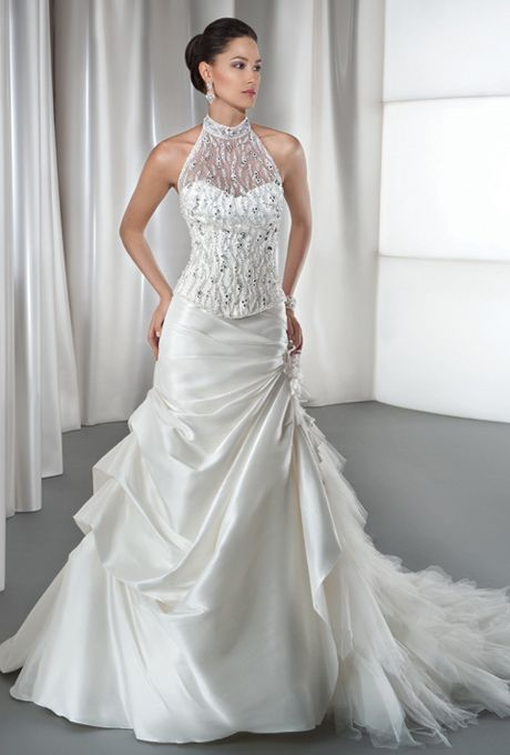 Demetrios young sophisticates sleeveless wedding gown for Wedding dresses for young brides