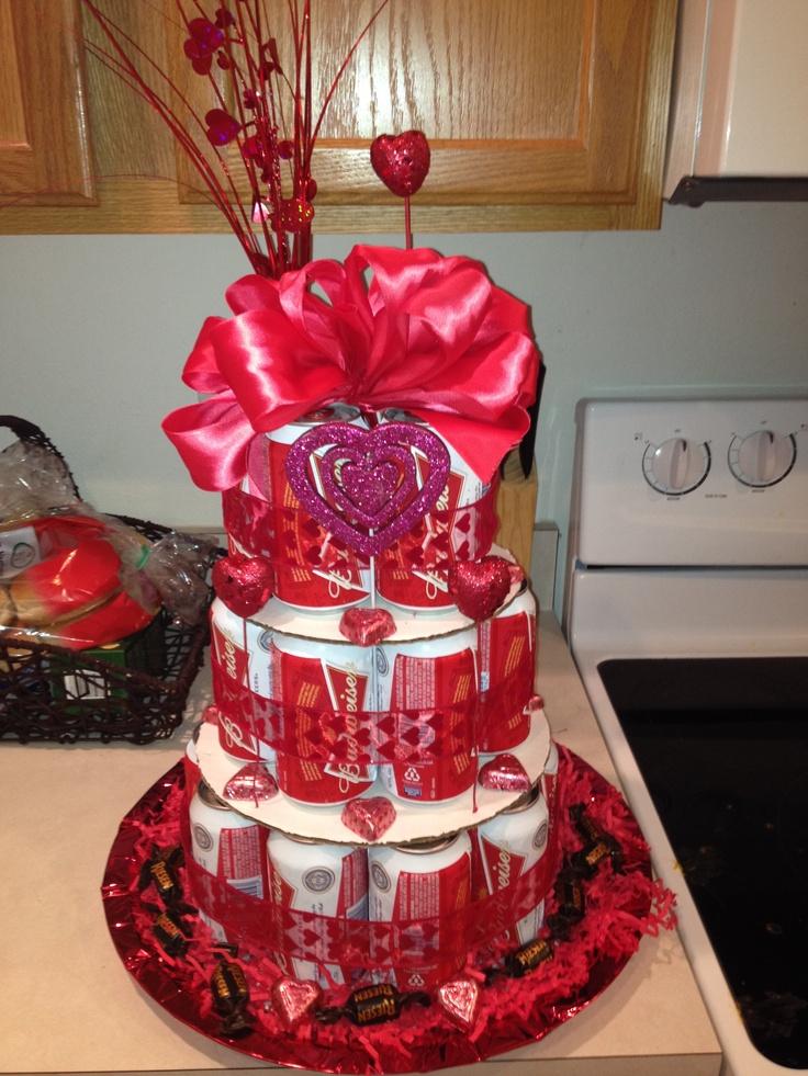 valentine's day beer cake