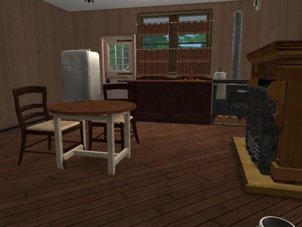 primitive kitchen | Sims 2 Interiors | Pinterest