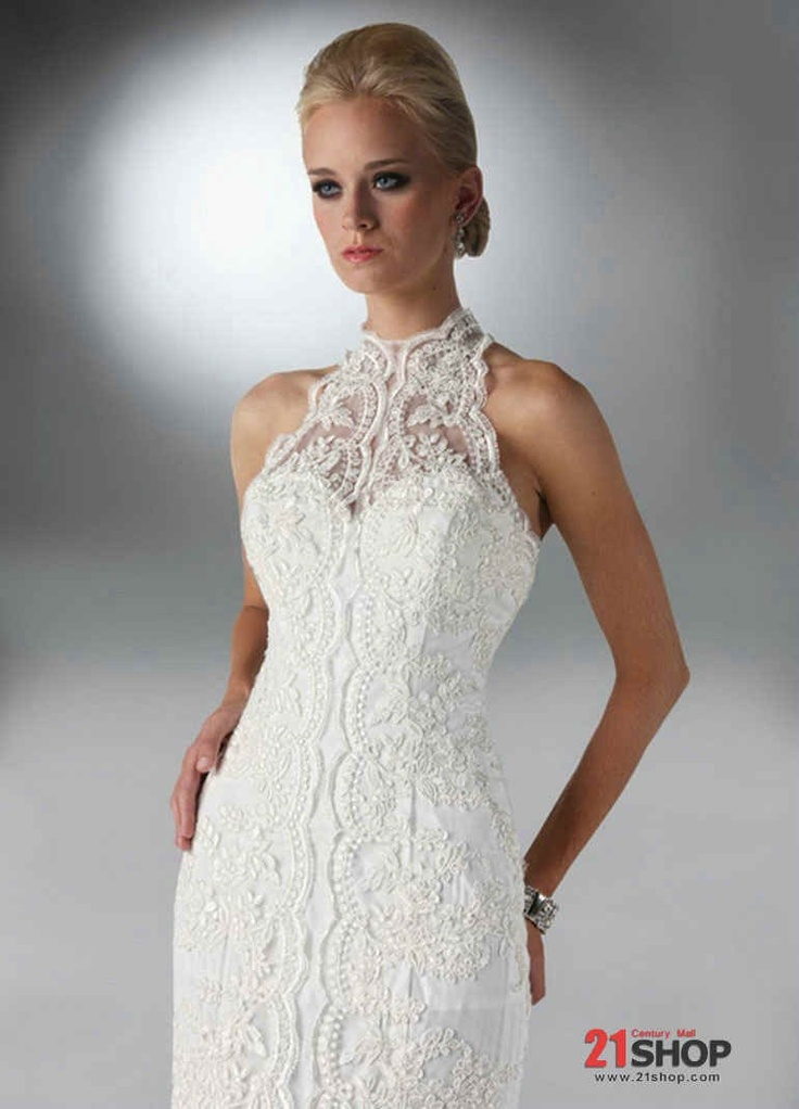 Lace collar wedding gown style pinterest for Pinterest wedding dress lace