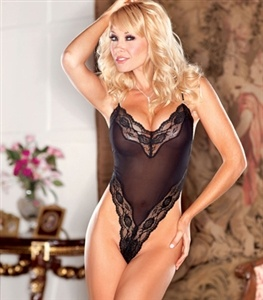 Chiffon G-String Teddy, Sexy Lingerie by Chelsea Manor