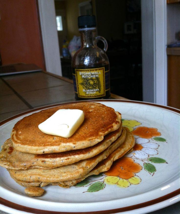Lemon Poppy-Seed Pancakes | Recipes: Desserts/Sweets/Drinks | Pintere ...