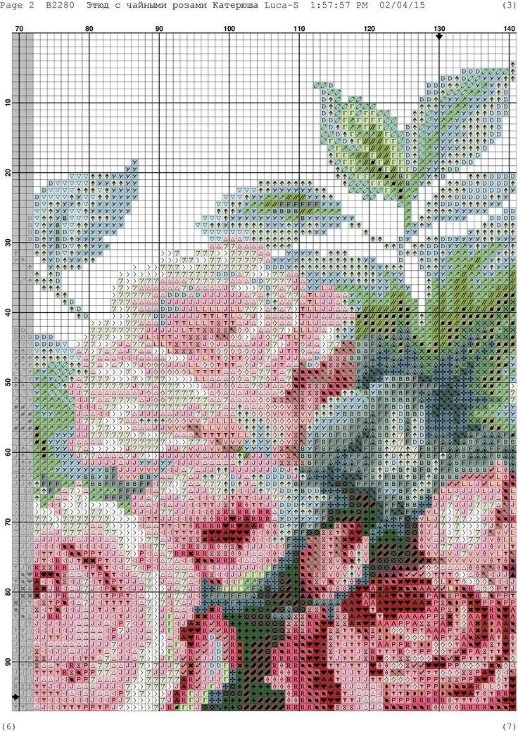 Вышивка роза схема фото