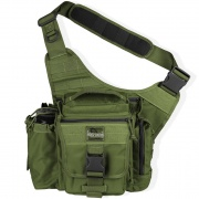 Makes a great non traditional diaper bag for him or her comes in pink