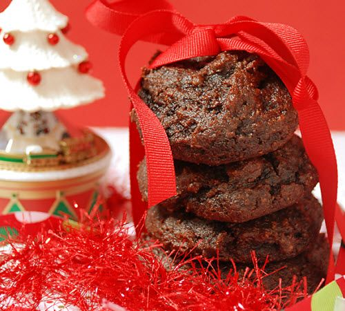 Chewy Dark Chocolate Gingerbread Cookies. Had these today; must make ...