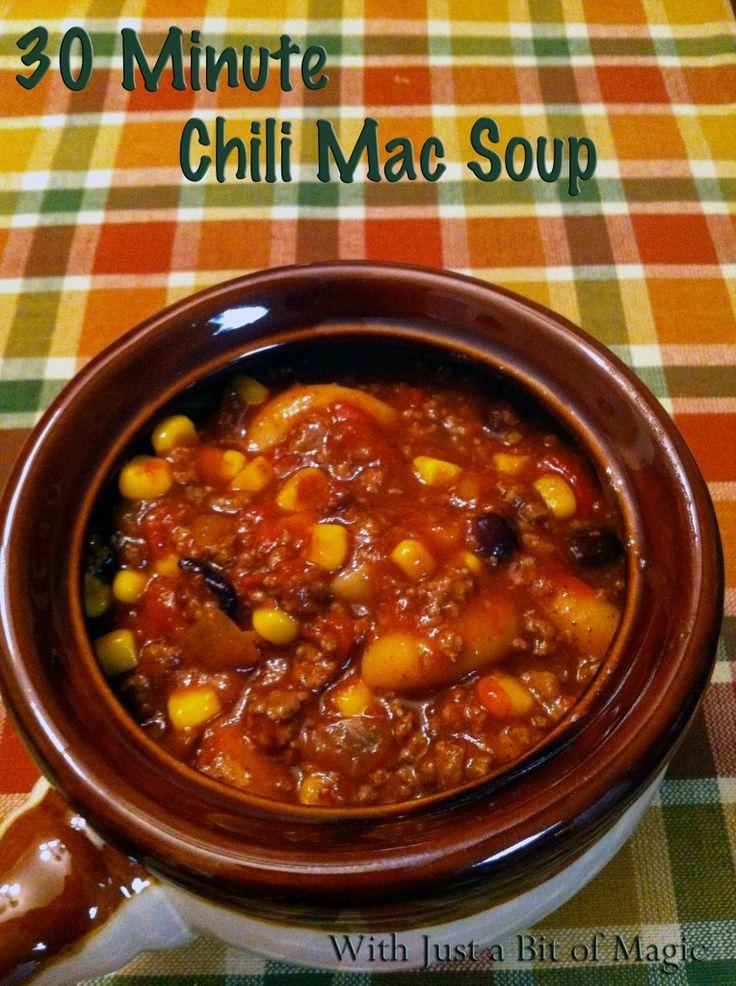 30 minute chili mac soup | Crock Pot recipes | Pinterest