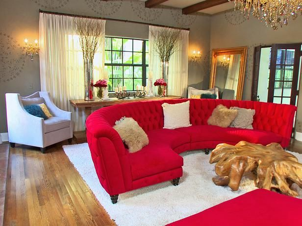 Rustic yet glamorous living room for David bromstad living room designs