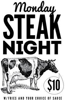 $10 Steak Bondi Beach 10 / Eat / Bondi Beach / Beach Road Hotel / SYD / $10 Steak Night ...