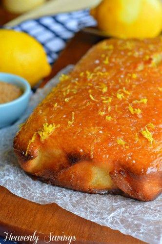 Lemon Glazed Lemon Bread | YUM | Pinterest