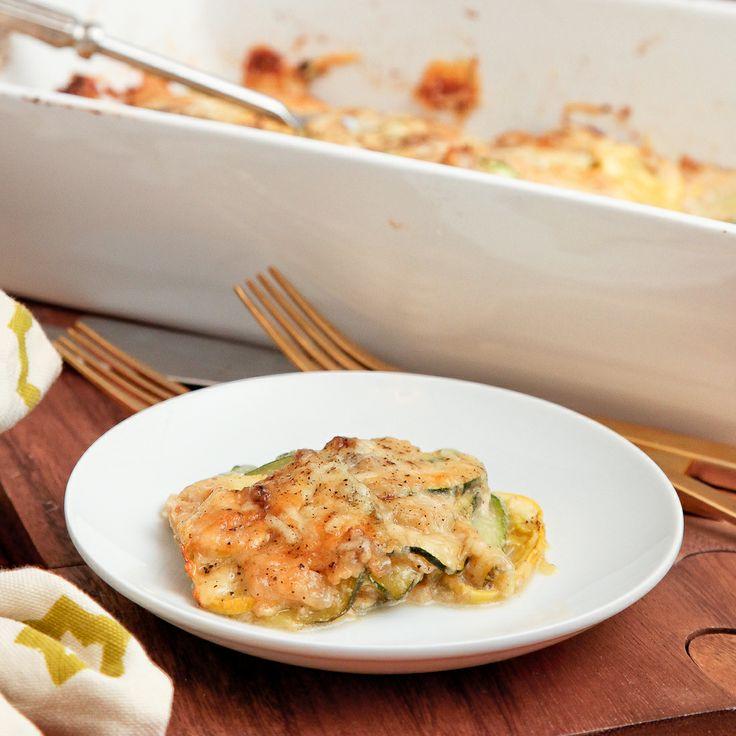 Summer squash gratin with nutmeg béchamel | Recipe