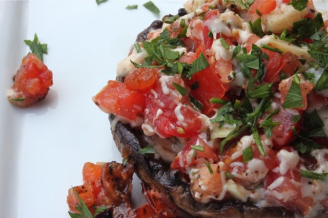 grilled stuffed portobello mushrooms | good & grill-y | Pinterest