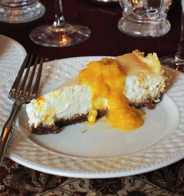 Mango, Saffron, Gluten Free, Eggless, Cheesecake