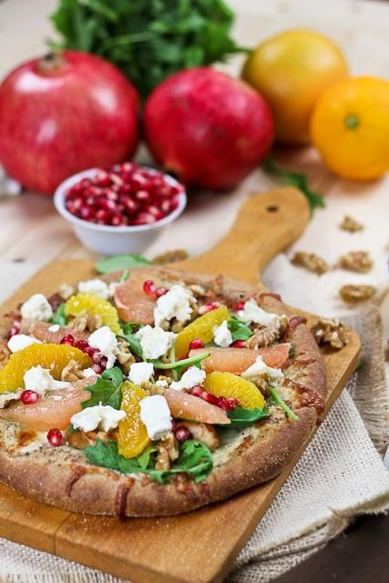 Chicken Recipes : Citrus, Chicken and Goat Cheese Pizza