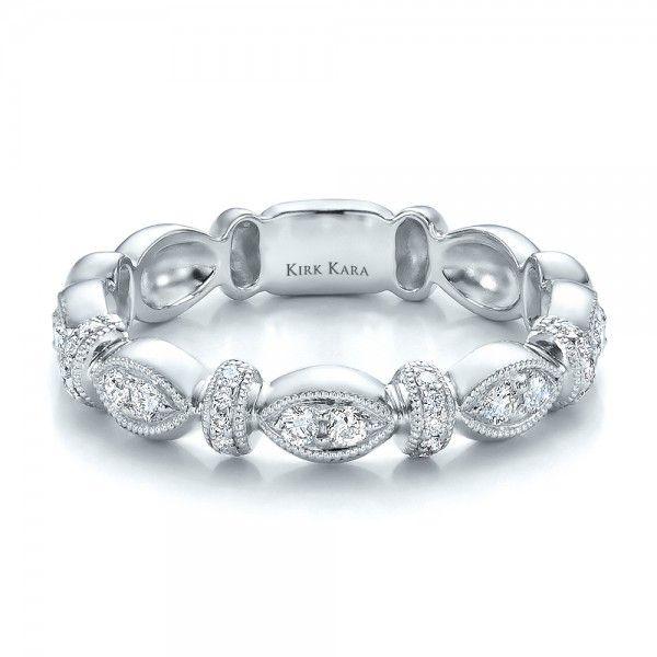 Diamond Wedding Band with Matching Engagement Ring - Kirk Kara