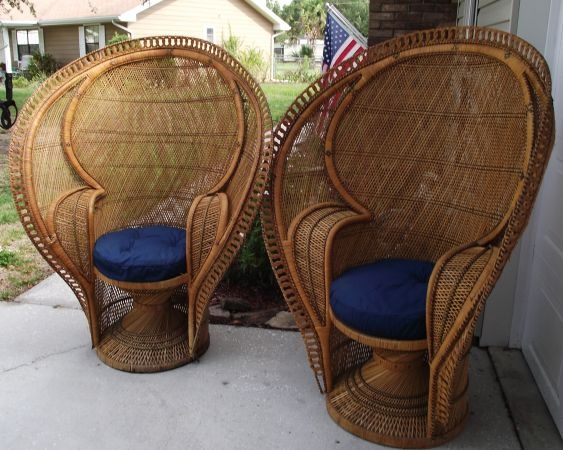 For sale peacock back wicker chairs for the home pinterest