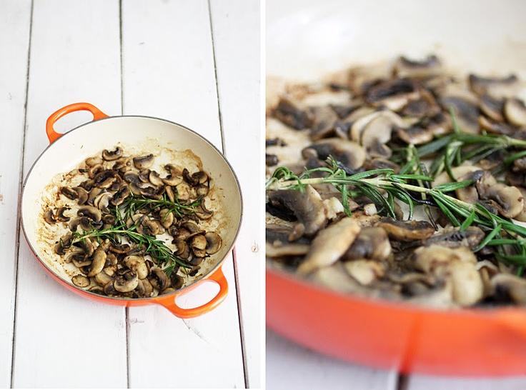 ... garlic basil and parsley sauteed mushrooms with marsala wine thyme