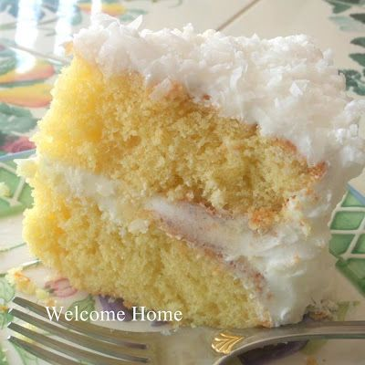 Coconut Cake-Southern | Because I love to cook | Pinterest