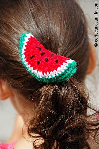 DIY Crochet Watermelon Hair Band Crochet/Amigurumi Pinterest