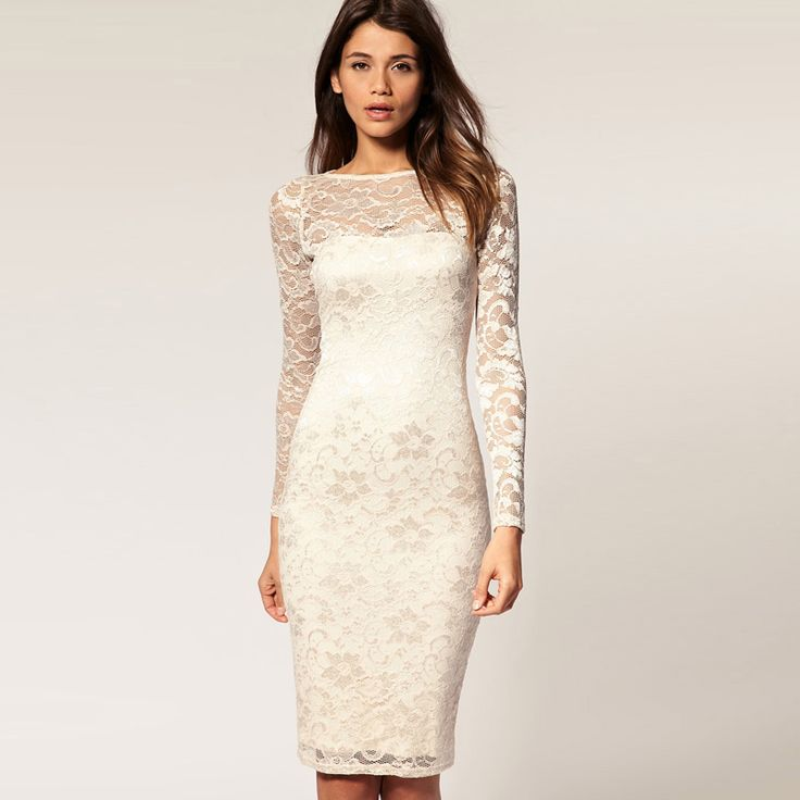 Fashion 2012 bride wedding full lace long-sleeve dress beautiful ...