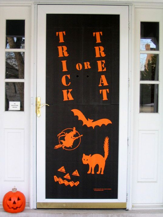 Front Door Decor Halloween Pinterest