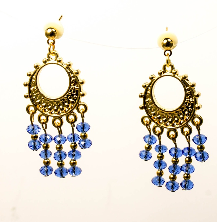 gold and blue earrings jewelry boutique