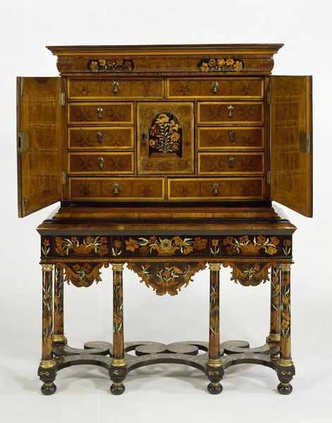 1685-1700 English Cabinet (shown open) at the Victoria and Albert Museum, London