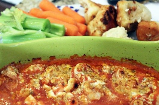Baked Buffalo Shrimp Dip on Foodie