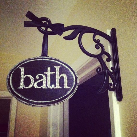bath decor sign by customsbycoco on etsy