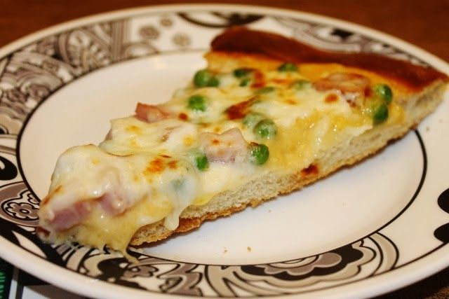 Double Cheese Ham and Peas Pizza | SuperPickle Blog Yummy Food Recipe ...