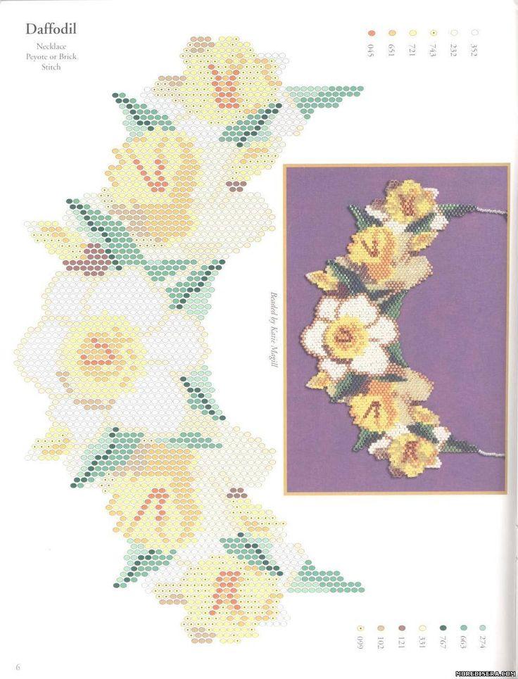 Схема цветка в мозаичном плетении