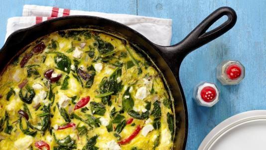 Spinach and Feta Frittata | Recipe