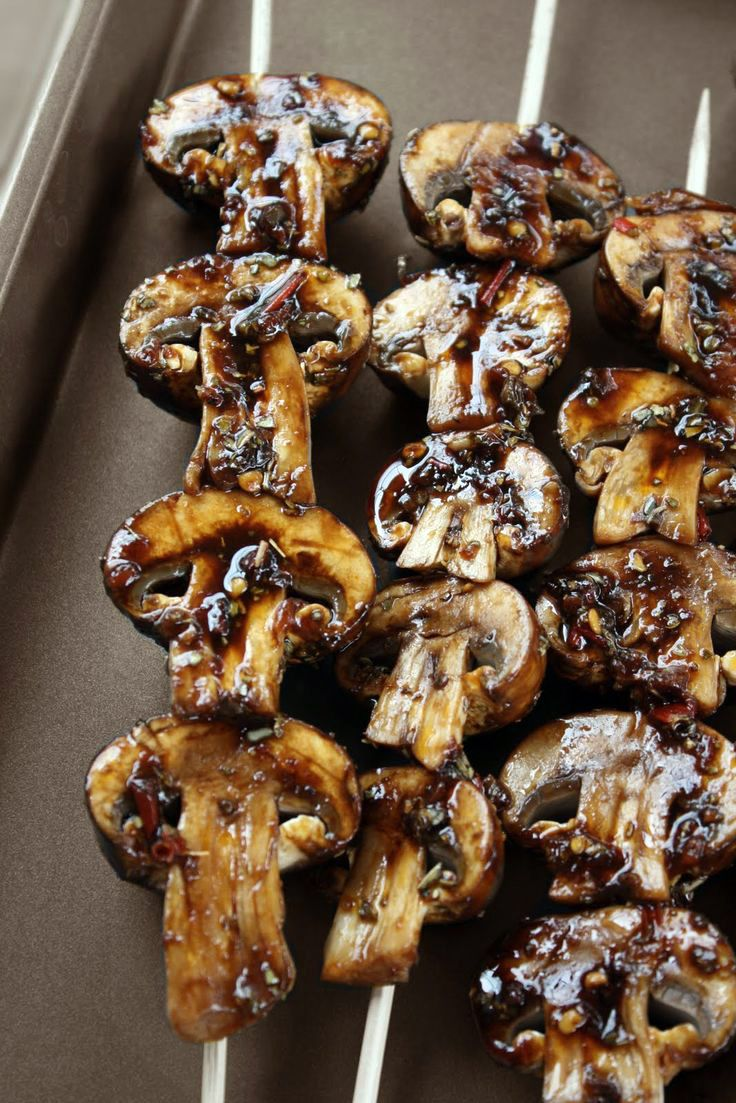 Marinated grilled mushrooms. | Anything foodie | Pinterest