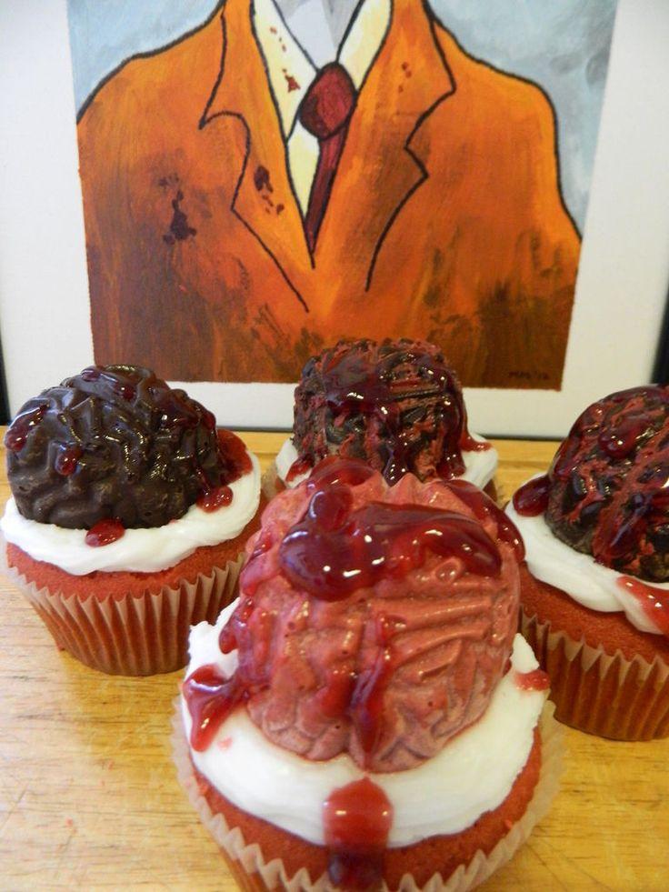Brain cupcakes | Good Things to Eat | Pinterest