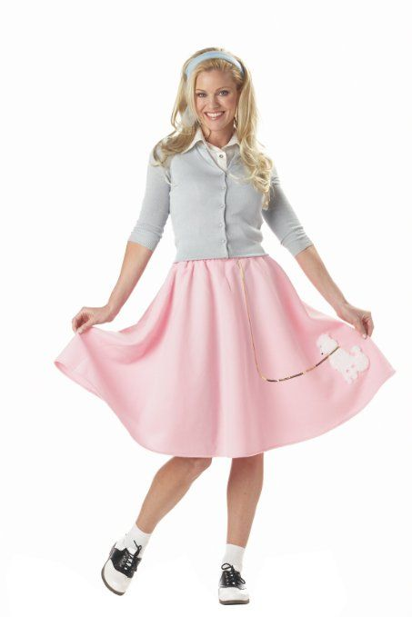 Amazon.com: California Costumes Women's Poodle Skirt Costume: Clothing