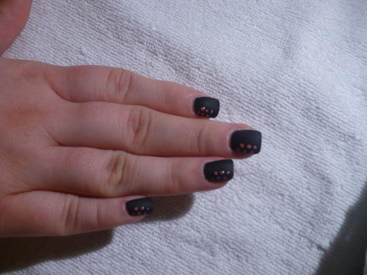 Matte black nails - gel | Acryl nails - Gel laque - Gel nails | Pinte
