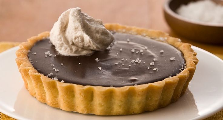 Chocolate Tart with Salted Caramel and Spiced Chantilly Cream | Recipe