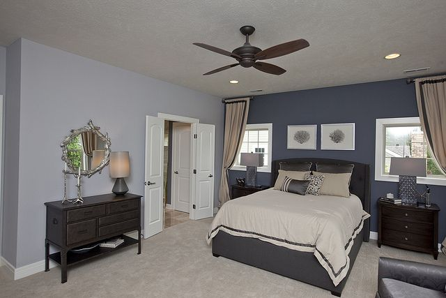 blue bedroom with accent wall for the home pinterest