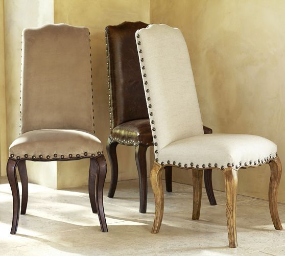 dining room decor fabric dining chairs