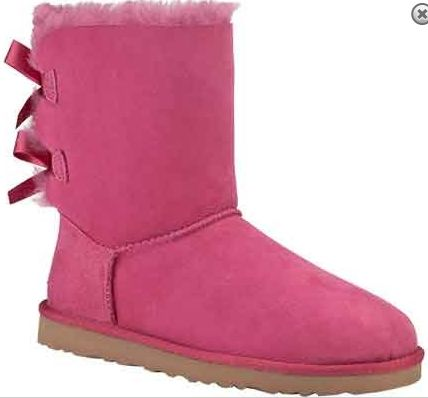 UGG Bailey Bow Pink Winter Snow Shoes For Women