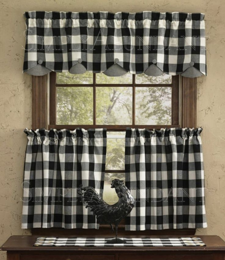 Black And White Checkered Kitchen Curtains Buffalo Check Curtains On