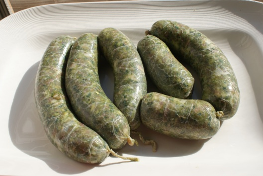 green chorizo. other version http://www.rickbayless.com/recipe/view ...