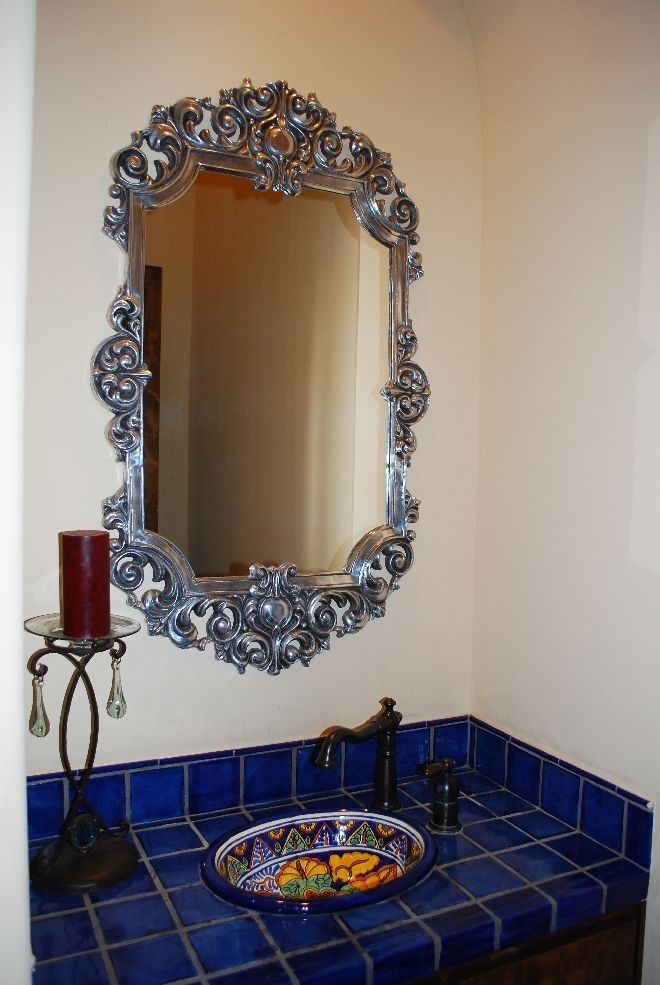 Blue Mexican Talavera Tile Bathroom Ideas Pinterest